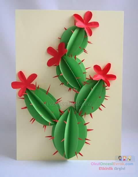 Своими руками из бумаги кактус