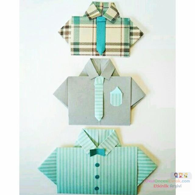 Подарок из бумаги от дочки