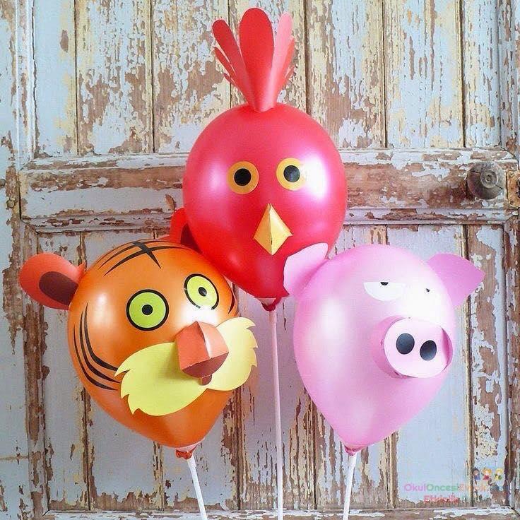Поделки из бумаги и воздушными шариками