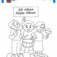 23 Nisan Belirli Gün Ve Haftalar Boyama Sayfası 2 Preschool Activity