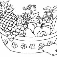Anasınıfı Meyve Sepeti Boyama 1 300x233 Preschool Activity