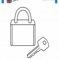 çocuklar Için Anahtar Eşyalar Boyama Sayfası 1 Preschool Activity
