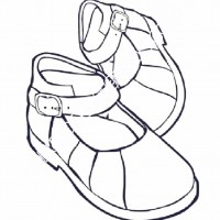 çocuklar Için Ayakkabı Kıyafet Giysi Boyama Sayfası 1 Preschool