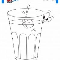 çocuklar Için Bardak Eşyalar Boyama Sayfası 11 Preschool Activity