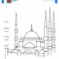 çocuklar Için Cami Yapılar Binalar Boyama Sayfası 14 Preschool
