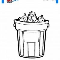 çocuklar Için çöp Kutusu Eşyalar Boyama Sayfası 1 Preschool Activity