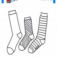 çocuklar Için çorap Kıyafet Giysi Boyama Sayfası 2 Preschool Activity