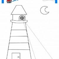 Deniz Feneri Boyama Ust Ev Boyama Sayfasi