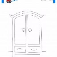 çocuklar Için Dolap Eşyalar Boyama Sayfası 6 Preschool Activity