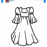 çocuklar Için Elbise Kıyafet Giysi Boyama Sayfası 27 Preschool