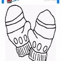 çocuklar Için Eldiven Kıyafet Giysi Boyama Sayfası 18 Preschool