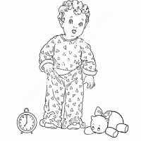 Cocuklar Icin Esofman Pijama Kiyafet Giysi Boyama Sayfasi 10