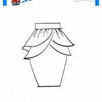 çocuklar Için Etek Kıyafet Giysi Boyama Sayfası 13 Preschool Activity