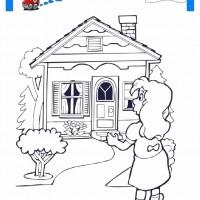 Cocuklar Icin Ev Yapilar Binalar Boyama Sayfasi 6 Preschool Activity