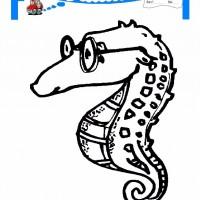 Cocuklar Icin Hayvan Hayvan Deniz Ati Boyama Sayfasi 4 Preschool