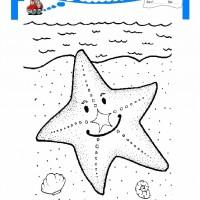 çocuklar Için Hayvan Hayvan Deniz Yıldızı Boyama Sayfası 14