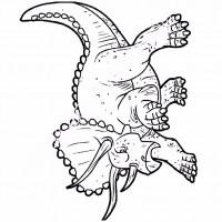 çocuklar Için Hayvan Hayvan Dinozor Boyama Sayfası 1 Preschool