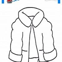 çocuklar Için Kaban Mont Kıyafet Giysi Boyama Sayfası 14 1