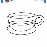 çocuklar Için Kupa Eşyalar Boyama Sayfası 9 Preschool Activity