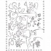 çocuklar Için Mevsimler Ilkbahar Mevsimi Boyama Sayfası 4