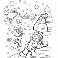 çocuklar Için Mevsimler Kış Mevsimi Boyama Sayfası 22 Preschool
