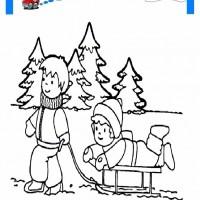 çocuklar Için Mevsimler Kış Mevsimi Boyama Sayfası 47 Preschool