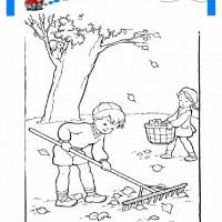 çocuklar Için Mevsimler Sonbahar Mevsimi Boyama Sayfası 1