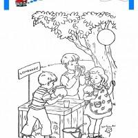 çocuklar Için Mevsimler Yaz Mevsimi Boyama Sayfası 44 Preschool