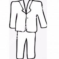 Cocuklar Icin Takim Elbise Ceket Kiyafet Giysi Boyama Sayfasi 10