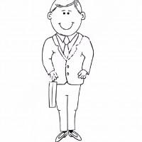 çocuklar Için Takım Elbise Ceket Kıyafet Giysi Boyama Sayfası 7