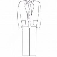 Cocuklar Icin Takim Elbise Ceket Kiyafet Giysi Boyama Sayfasi 9