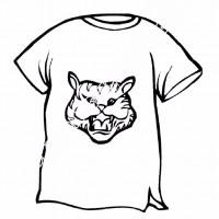 çocuklar Için Tişört Kıyafet Giysi Boyama Sayfası 11 Preschool