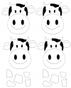 Inek Cow Kalip Png Preschool Activity