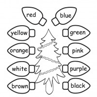 Ingilizce Renkler Yilbasi Agaci Boyama Preschool Activity
