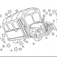 Otobus Boyama Preschool Activity