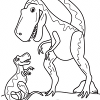 T Rex Family Coloring Page Kopyala Preschool Activity