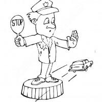 Trafik Ve Ilkyardım Haftası Belirli Gün Ve Haftalar Boyama Sayfası 1