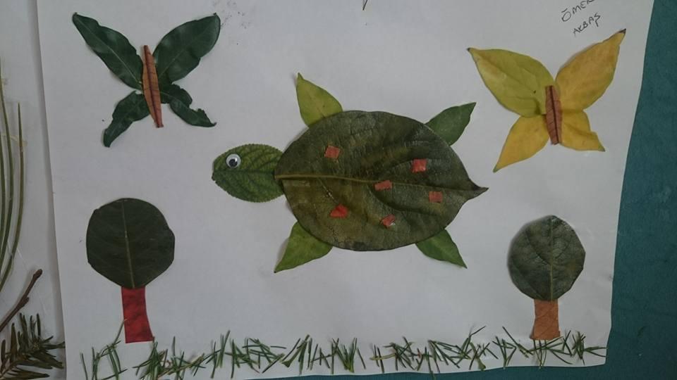 yapraklar ıle ılgılı sanat etkinliği (1)