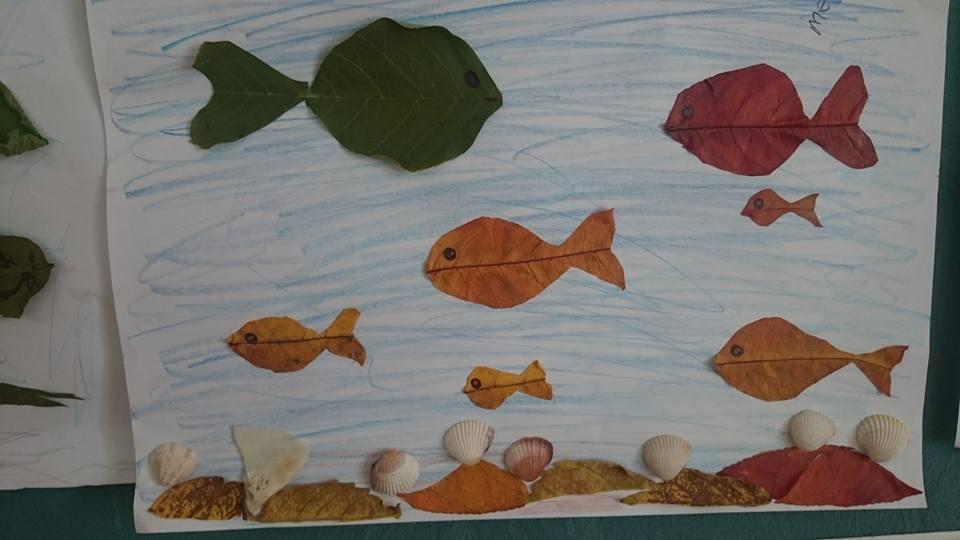 yapraklar ıle ılgılı sanat etkinliği (2)