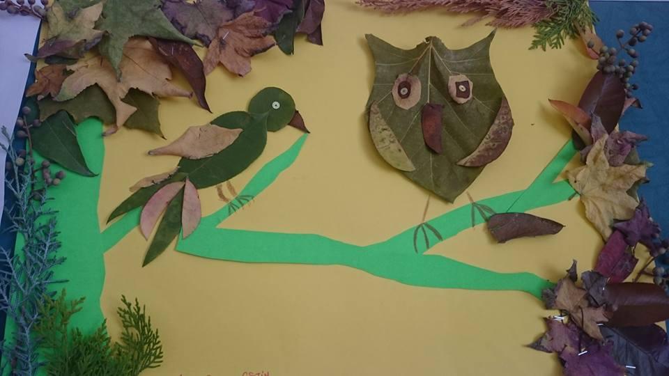 yapraklar ıle ılgılı sanat etkinliği (3)