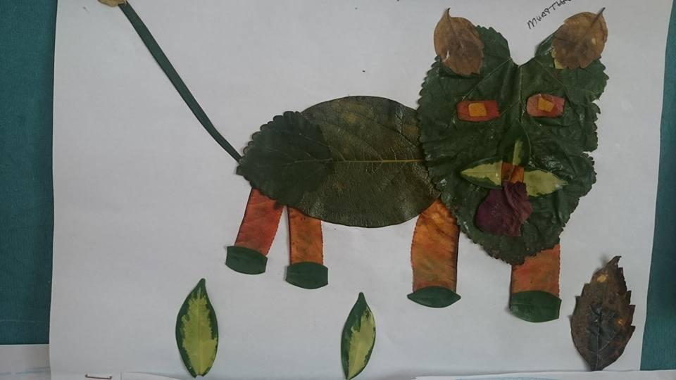 yapraklar ıle ılgılı sanat etkinliği (9)