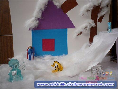 Как сделать объемный домик из ватных палочек своими руками