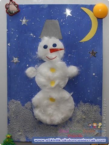 Снеговик из ваты своими руками для поделки
