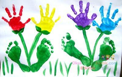 El Ve Ayak Boyama çalışması Preschool Activity