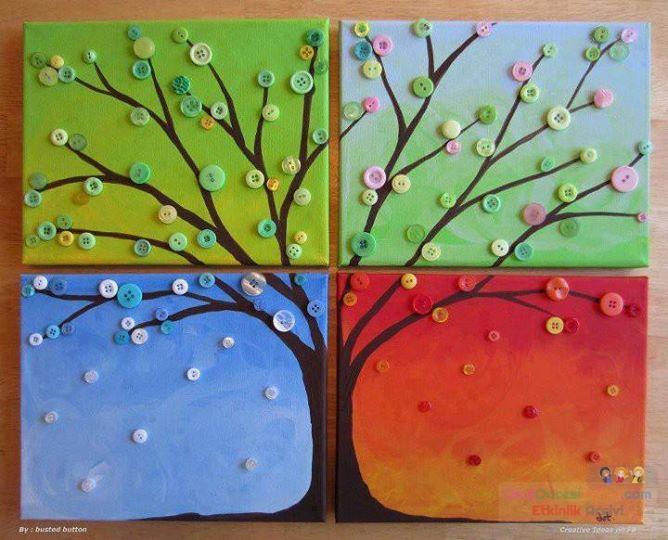 Дерево 4 времен года сделать своими руками
