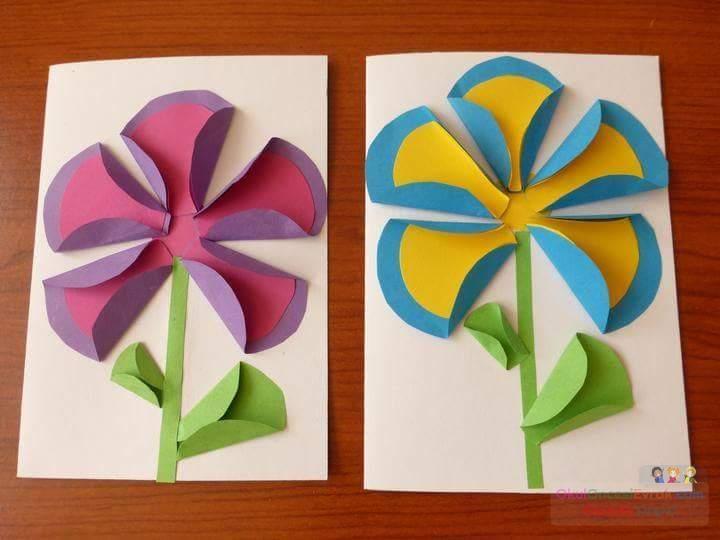 Цветы поделки из бумаги для детей