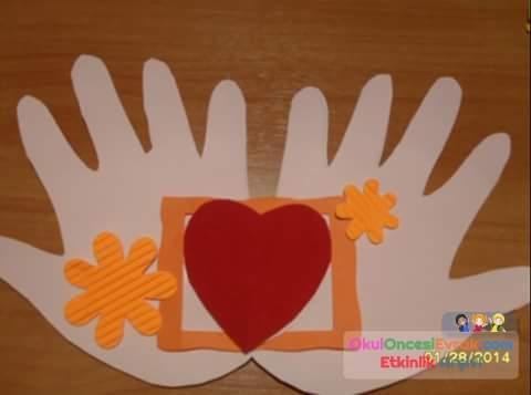 Как изготовить открытку ладошку для родителей 1 класса