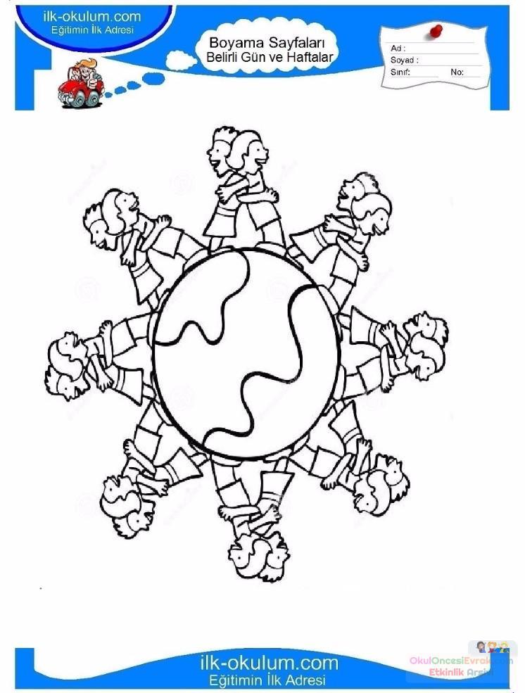 23 Nisan Belirli Gun Ve Haftalar Boyama Sayfasi 4 Preschool Activity